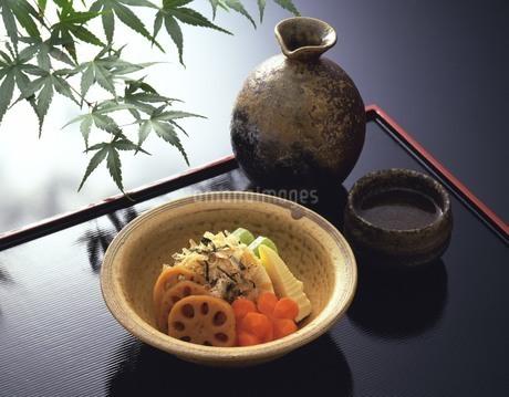 熱燗と煮物の写真素材 [FYI02379820]