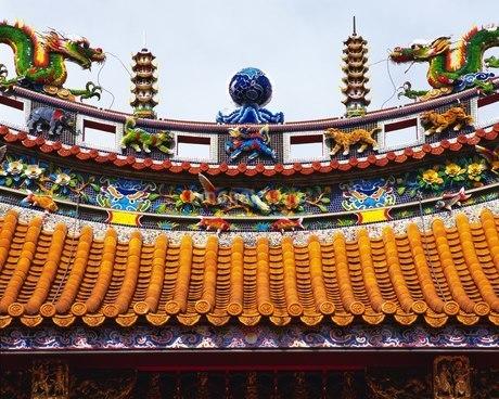 横浜中華街 関帝廟の写真素材 [FYI02382546]