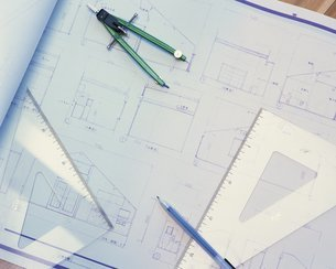設計図の写真素材 [FYI02383277]