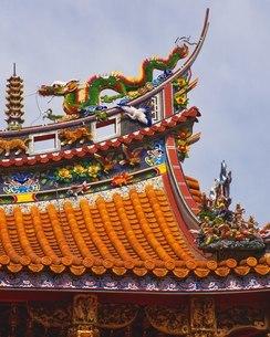 横浜中華街 関帝廟の写真素材 [FYI02383404]