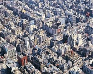 銀座の町並み 空撮の写真素材 [FYI02387597]