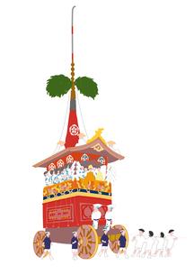 祇園祭のイラスト素材 [FYI02390447]