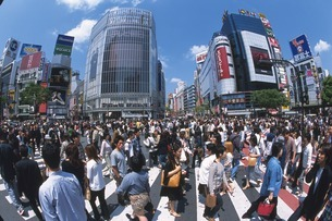 渋谷のスクランブル交差点の写真素材 [FYI02390465]