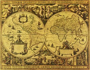 古地図の写真素材 [FYI02392520]