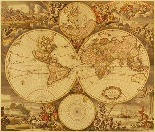 古地図の写真素材 [FYI02392751]