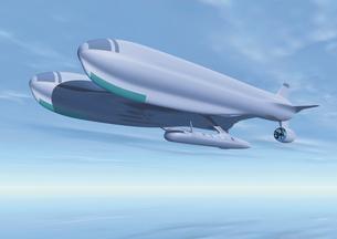 飛行船のCGイメージのイラスト素材 [FYI02393283]
