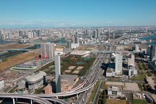 首都高速11号台場線 有明JCT 東雲JCTの写真素材 [FYI02398841]