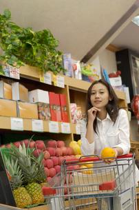 ショッピングをする女性の写真素材 [FYI02400115]
