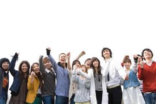 喜ぶ若者たちの写真素材 [FYI02401834]