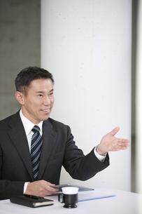 説明をするビジネスマンの写真素材 [FYI02411121]