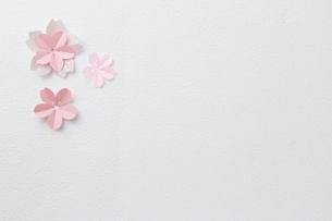 桜ペーパークラフトイメージの写真素材 [FYI02421053]