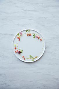 白いお皿に盛られた季節の前菜の写真素材 [FYI02421105]