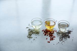 3種類の紅茶の写真素材 [FYI02422373]