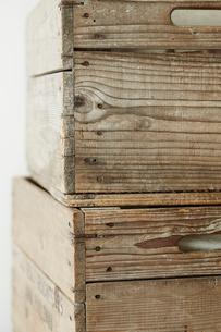 木箱の側面の写真素材 [FYI02422530]
