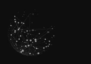 複数の線で繋がった点の写真素材 [FYI02427825]