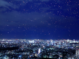 千代田区方面の夜景の写真素材 [FYI02430461]