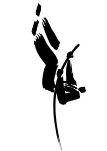棒高跳びをするビジネスマンのイラスト素材 [FYI02436347]