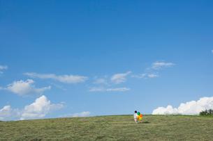 風船を持った男の子の後姿の写真素材 [FYI02439893]