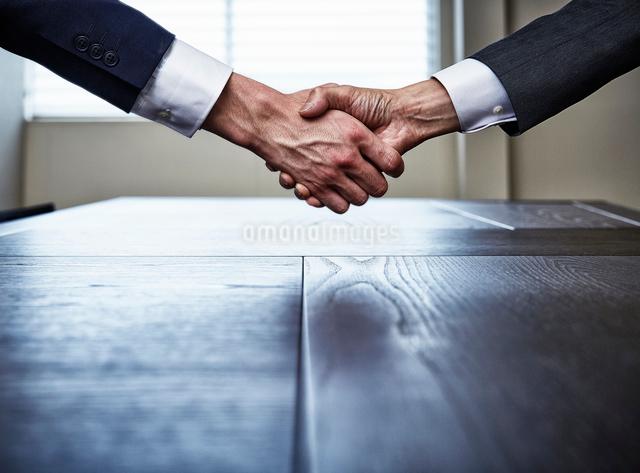 握手するビジネスマンの手の写真素材 [FYI02447912]