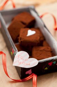 手作り生チョコプレゼント「For you」の写真素材 [FYI02448676]