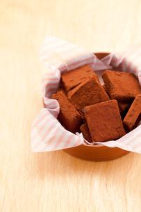手作り生チョコプレゼントの写真素材 [FYI02448792]
