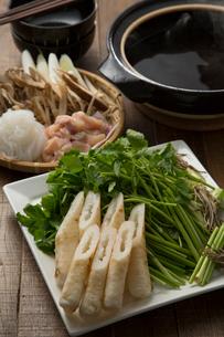きりたんぽ鍋の食材の写真素材 [FYI02448895]