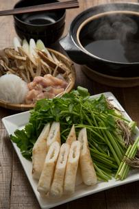 きりたんぽ鍋の食材の写真素材 [FYI02449015]