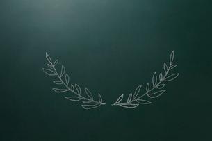 黒板に描いた植物の飾りのイラスト素材 [FYI02449408]