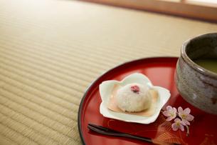 桜餅と抹茶の写真素材 [FYI02450120]