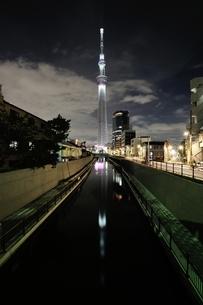 東京スカイツリーライトアップ(防災の日)の写真素材 [FYI02450961]