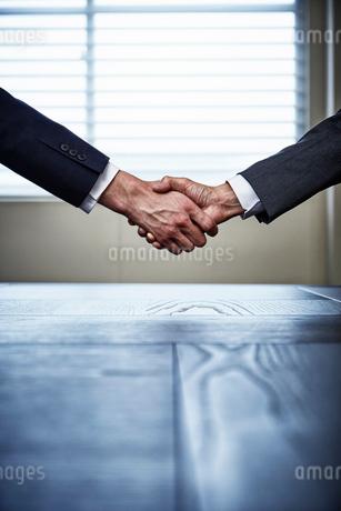 握手するビジネスマンの手の写真素材 [FYI02452019]