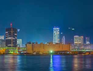 神戸港夜景の写真素材 [FYI02454584]