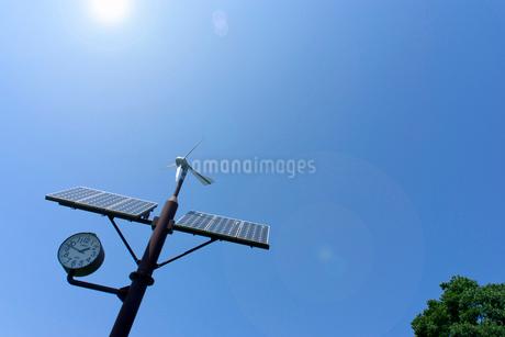 野外ソーラー時計の写真素材 [FYI02455884]