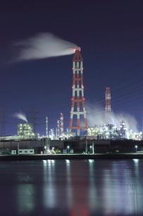 鹿嶋の工場夜景の写真素材 [FYI02456671]