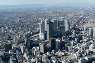名古屋 名駅 空撮の写真素材 [FYI02460269]