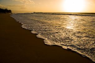 オアフ島ノースショアの夕暮れの写真素材 [FYI02466664]