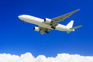 日本航空の航空機と夏の雲の写真素材 [FYI02470597]