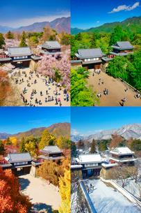 上田城の春夏秋冬の写真素材 [FYI02473611]