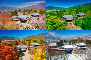 上田城の春夏秋冬の写真素材 [FYI02473841]