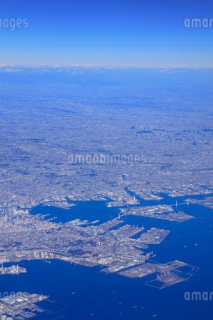横浜市の街並空撮の写真素材 [FYI02474198]