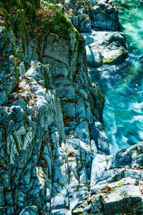 音水渓谷の滝の写真素材 [FYI02474284]
