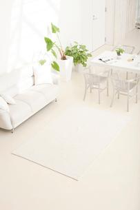 白いソファとテーブルセットと観葉植物の写真素材 [FYI02480279]