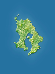 鹿児島県地図のイラスト素材 [FYI02491066]
