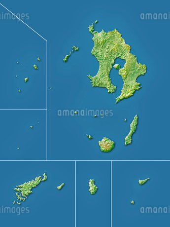 鹿児島県大隅諸島地図のイラスト素材 [FYI02491115]