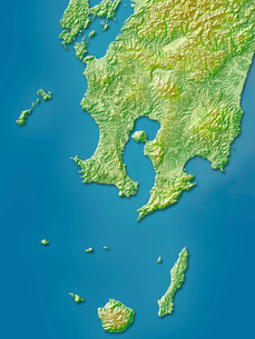 鹿児島県地図のイラスト素材 [FYI02491198]