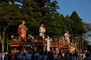 鹿島神宮の式念大祭の山車の写真素材 [FYI02491582]