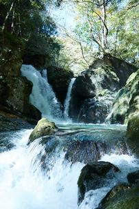 音水渓谷の滝の写真素材 [FYI02492630]