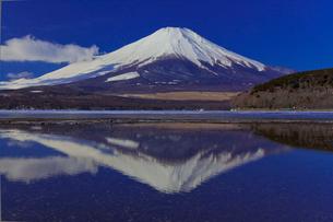 山中湖の逆さ富士の写真素材 [FYI02500765]