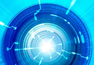 トンネルと光の回路のイラスト素材 [FYI02503574]