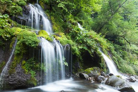 清里高原の吐竜の滝の写真素材 [FYI02503811]